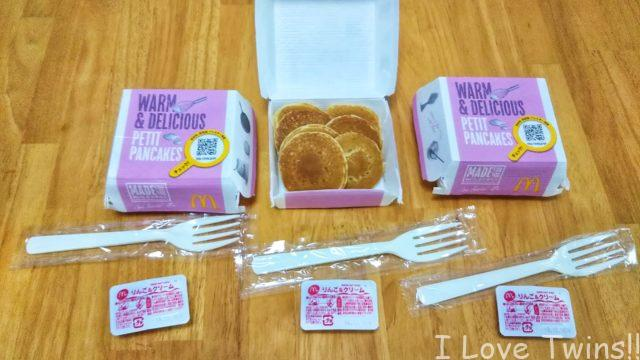 3つプチパンケーキ